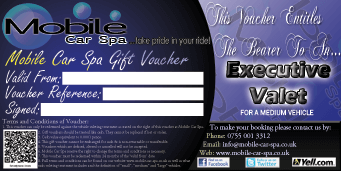 Buy Gift Vouchers Mobile Car Spa
